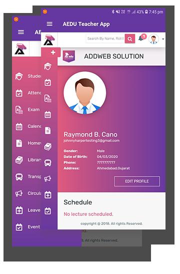 AEDU School Teacher App